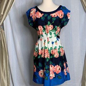 Just ginger floral dress